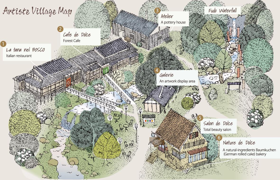 artistvillafe map